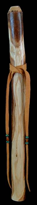 Ash Branch Flute in A with Malachite Inlay from Dryad Branch Flutes