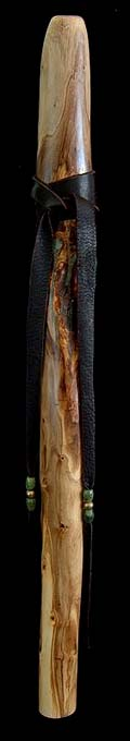 Olive Branch Flute in F# with Serpentine Inlay from Dryad Flutes