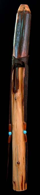 Redwood Branch Flute in F# with Turquoise Inlay from Dryad Flutes