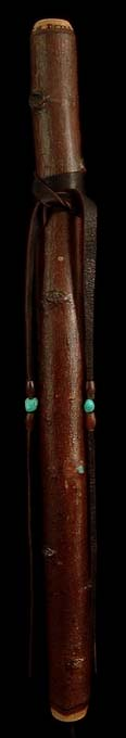Poplar Branch Flute in G with Turquoise Inlay from Dryad Branch Flutes