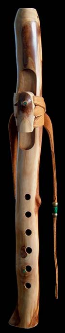 Camellia Branch Flute in High D with Malachite Inlay from Dryad Branch Flutes