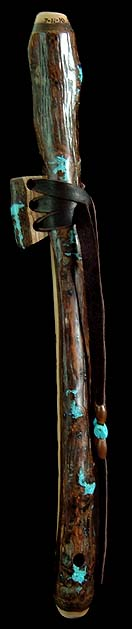 English Walnut Branch Flute in High F# from Dryad Flutes