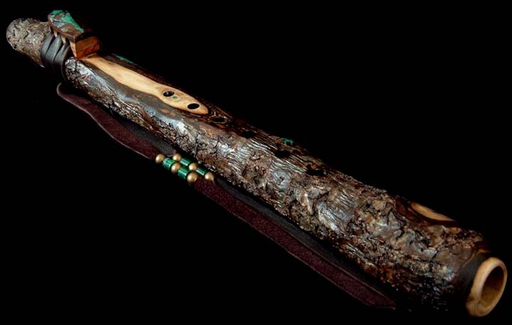 English Walnut Branch Flute in A from Dryad Flutes