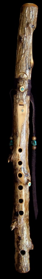 Tobacco Prayer Flute in high B flat minor from Dryad Flutes
